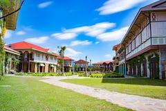 Paysage d'un village colonial espagnol, Philippines De acuzar, Philippines de maisons de las Images stock