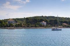 Paysage d'une île de Zlarin Images libres de droits