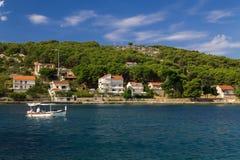 Paysage d'une île de Zlarin Photos stock