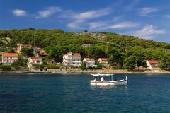 Paysage d'une île de Zlarin Photographie stock
