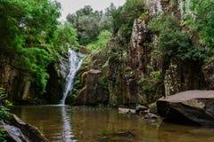 Paysage dans la cascade de Mourão, Anços - Sintra, Portugal photo stock