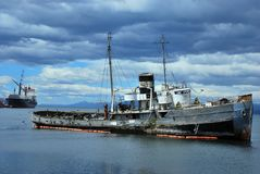 Paysage dans la Manche de briquet en Tierra del Fuego image libre de droits