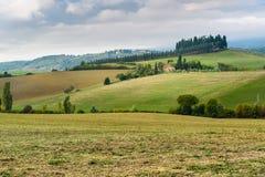 Paysage dans la région de chianti dans la province de Sienne tuscany l'Italie images libres de droits