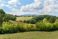 Paysage dans la région de chianti dans la province de Sienne tuscany l'Italie photos libres de droits