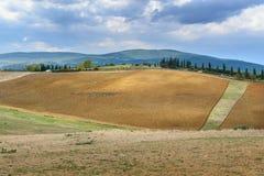 Paysage dans la région de chianti dans la province de Sienne tuscany l'Italie photo stock
