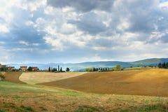 Paysage dans la région de chianti dans la province de Sienne tuscany l'Italie photographie stock