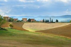 Paysage dans la région de chianti dans la province de Sienne tuscany l'Italie image stock