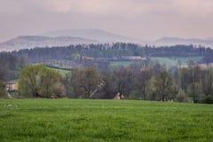 Paysage dans la région de la Silésie images stock