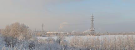 Paysage dans le début de l'hiver Image stock