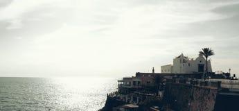 Paysage dans le d'Ischia de Forio, Italie Photo libre de droits