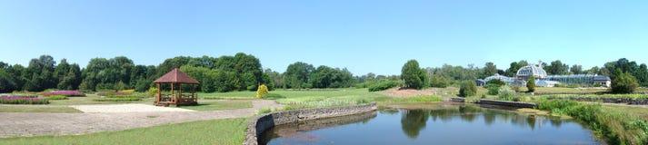 Paysage dans le jardin botanique de Kaunas Photos stock