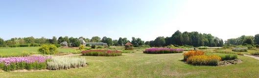 Paysage dans le jardin botanique de Kaunas Images stock