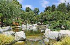 Paysage dans le jardin japonais Photo stock