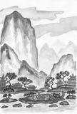 Paysage dans le style chinois Photos libres de droits