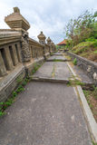 Paysage dans le temple Bali Indonésie d'Uluwatu Photos stock