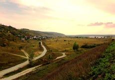 Paysage dans le village photo stock