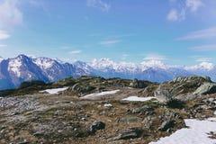 Paysage dans les Alpes Images libres de droits