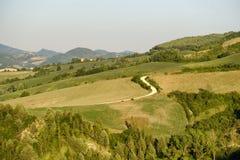 Paysage dans Montefeltro près de Marches d'Urbino, Italie Photos libres de droits