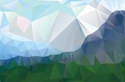 Paysage dans un style minimaliste Images stock