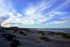Paysage de au nord de Lanzarote Caleta de Famara Îles Canaries l'espagne Photo stock