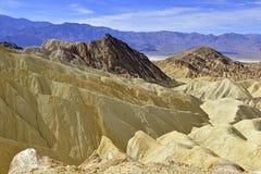 Paysage de bad-lands de désert, Death Valley, parc national Images libres de droits