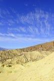 Paysage de bad-lands de désert, Death Valley, parc national Photographie stock