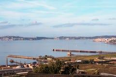 Paysage de Bagnoli, Naples Image libre de droits