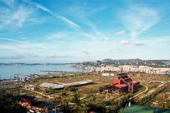Paysage de Bagnoli, Naples Photographie stock libre de droits