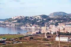 Paysage de Bagnoli, Posillipo, Naples Photos stock