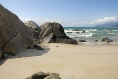 Paysage de baie de Sanya, Hainan, Chine Image libre de droits