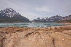 Paysage de Baldy de lac et de bâti barrier Image stock