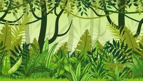 Paysage de bande dessinée de jungle de nature illustration libre de droits