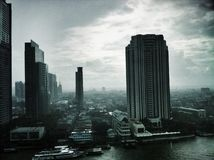 Paysage de Bangkok Image libre de droits