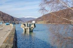 Paysage de barrage de l'eau Image stock