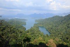 Paysage de barrage de Rajjaprabha de point de vue de kraisorn Photo libre de droits