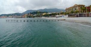 Paysage de bord de la mer de Santa Margherita Ligure, Italie Photographie stock libre de droits