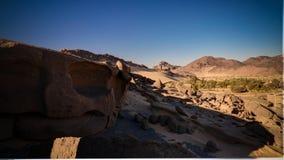 Paysage de Boulder près de Djanet, Tassili, Algérie Photos stock