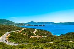 Paysage de côte de la Sardaigne Photos stock