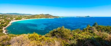 Paysage de côte de la Sardaigne - le Villasimius Photo libre de droits