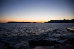 Paysage de côte en Dalmatie, Croatie Images stock