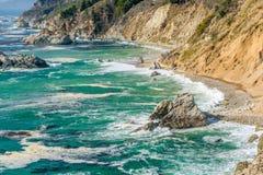 Paysage de Côte Pacifique des Etats-Unis, la Californie image stock