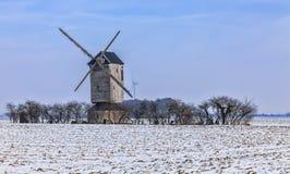 Paysage de campagne d'hiver Photographie stock libre de droits
