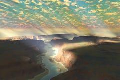 Paysage de canyon illustration libre de droits