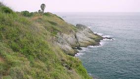 Paysage de cap de Phrom Thep en mer d'andaman banque de vidéos