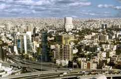 Paysage de capitale de ville d'Amman de la Jordanie Images stock