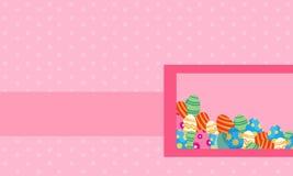 Paysage de carte de voeux de style de thème de Pâques Photo libre de droits