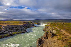 Paysage de cascade dans Iceland4 Photographie stock