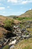Paysage de cascade dans les balises de Brecon du Pays de Galles Images stock