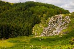 Paysage de cascade de Glenmacnass image libre de droits