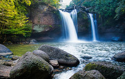 Paysage de cascades Photo stock